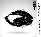 black brush stroke and texture. ... | Shutterstock .eps vector #1033386496