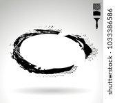 black brush stroke and texture. ... | Shutterstock .eps vector #1033386586