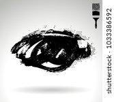 black brush stroke and texture. ... | Shutterstock .eps vector #1033386592
