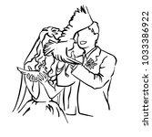 bride and groom. joyful wedding ... | Shutterstock .eps vector #1033386922