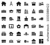 flat vector icon set  ... | Shutterstock .eps vector #1033388422