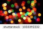 multicolored defocused blurred... | Shutterstock . vector #1033392232