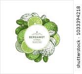 fresh bergamot round design...   Shutterstock .eps vector #1033394218
