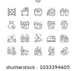 garbage well crafted pixel... | Shutterstock .eps vector #1033394605