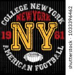 college new york typography  t... | Shutterstock .eps vector #1033396462