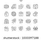 gambling well crafted pixel...   Shutterstock .eps vector #1033397188