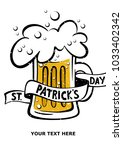 happy st. patrick's day poster. ... | Shutterstock .eps vector #1033402342