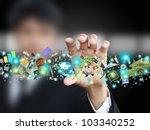 man holding object | Shutterstock . vector #103340252