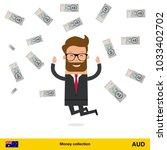 businessman happy to earn a lot ... | Shutterstock .eps vector #1033402702