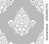 vector damask seamless pattern... | Shutterstock .eps vector #1033402792