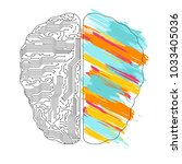 left and right brain functions... | Shutterstock .eps vector #1033405036