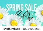 spring sale banner  background...   Shutterstock .eps vector #1033408258