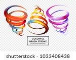 set of colorful brush strokes....   Shutterstock .eps vector #1033408438