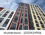 high up modern apartment... | Shutterstock . vector #1033414906