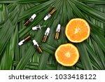 cosmetics skincare with vitamin ... | Shutterstock . vector #1033418122