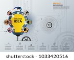 idea concept for business... | Shutterstock .eps vector #1033420516