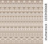 horizontally seamless beige...   Shutterstock .eps vector #1033430668