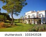 summer landscape with white... | Shutterstock . vector #103343528