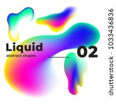 liquid vector colorful shapes.... | Shutterstock .eps vector #1033436836