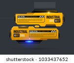two options template in yellow... | Shutterstock .eps vector #1033437652