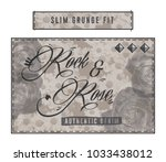 a stamp printed    Shutterstock . vector #1033438012