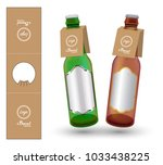 paper bottle neck hang tag die... | Shutterstock .eps vector #1033438225