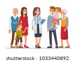 doctor woman with big family.... | Shutterstock . vector #1033440892