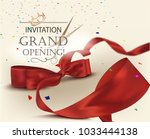 grand opening invitation card... | Shutterstock .eps vector #1033444138