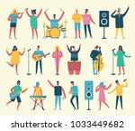 vector background in a flat... | Shutterstock .eps vector #1033449682