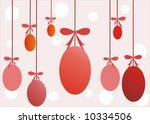 illustration of red easter eggs ... | Shutterstock .eps vector #10334506