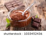 homemade chocolate mousse | Shutterstock . vector #1033452436