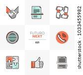 modern flat icons set of... | Shutterstock .eps vector #1033455982