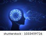 artificial intelligence ... | Shutterstock .eps vector #1033459726