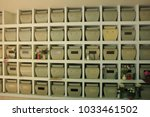 columbarium at a cemetery ... | Shutterstock . vector #1033461502