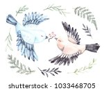 watercolor illustrations. two... | Shutterstock . vector #1033468705