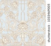 seamless pattern with thistle... | Shutterstock .eps vector #1033469005