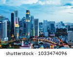business district modern... | Shutterstock . vector #1033474096