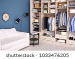 dressing room interior with big ... | Shutterstock . vector #1033476205