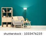 trendy living room interior... | Shutterstock . vector #1033476235