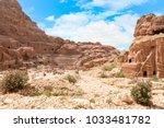 petra  jordan   april 25  2016  ... | Shutterstock . vector #1033481782