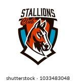 colorful logo  sticker  horse...   Shutterstock .eps vector #1033483048