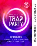 electro dance trap party music... | Shutterstock .eps vector #1033483522