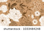 floral vintage seamless pattern.... | Shutterstock .eps vector #1033484248