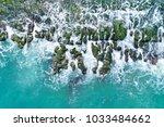 laomei green reef aerial view   ... | Shutterstock . vector #1033484662