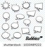 set of blank template in pop... | Shutterstock .eps vector #1033489222
