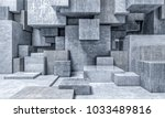 cube concrete abstract... | Shutterstock . vector #1033489816