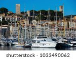 yachts moored in port of cannes ... | Shutterstock . vector #1033490062