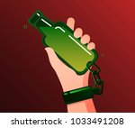 concept of alcohol addicted.... | Shutterstock .eps vector #1033491208