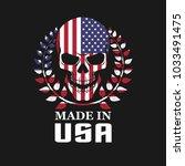 skull on usa flag | Shutterstock .eps vector #1033491475