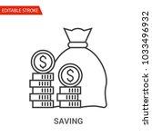 saving icon. thin line vector...   Shutterstock .eps vector #1033496932